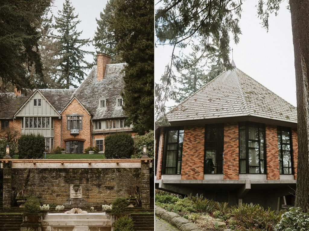 an elopement ceremony at lewis and clark college